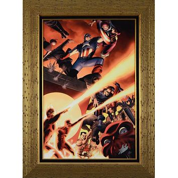 Fallen Son: Death of Captain America #5 - Limited Edition Artist Proof Giclee on Canvas by John Cassaday and Marvel Comics Hand Signed by Stan Lee