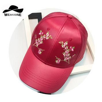 WEARZONE2017brand caps fashion red Snapback Hat Hip-Hop Plum embroidery designer hats