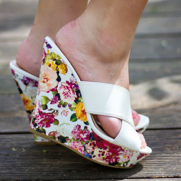 Stepping In The Garden Wedges