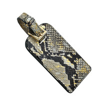 Luggage Tag  Goldwash Embossed Python Leather