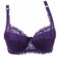 Plus Size Deep V Push Up Iere Shaping Padded Bras Underwear Embroidery Lingerie Bra A
