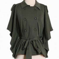 garden window buttoned poncho
