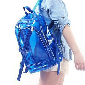 Clear Vinyl Colored Jelly Backpack