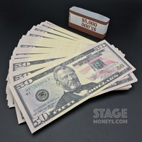 100x $50 Bills - $5,000 New Style Prop Money