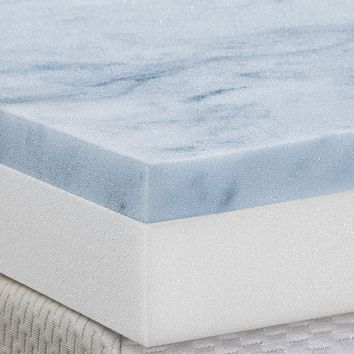 Health-O-Pedic 3-in. Gel Memory Foam Mattress Topper (White)