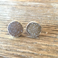 Luxe by Virtue Druzy Earrings- Topaz
