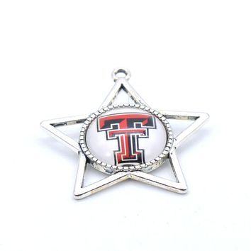 Pendant Accessories NCAA Texas Tech Red Raider Charms Accessories for Bracelet Necklace for Women Men Basketball Fans Paty Fashi
