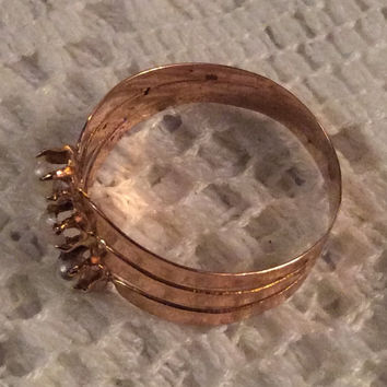 Pearl Gold Ring, 18K Gold, Georgian, Vintage Jewelry, SALE
