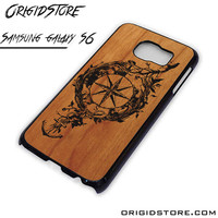 Compass Wood Case For Samsung Galaxy S6 Case