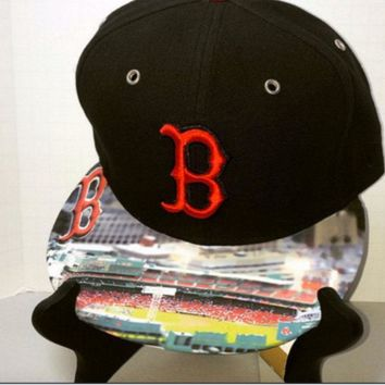 Boston Red Sox Authentic New Era Snapback or Fitted Cap with Custom Bill. The Unique Gift For The Person That Has Everything!