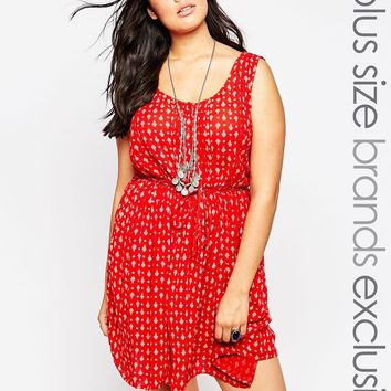 New Look Inspire Skater Dress In Cheesecloth at asos.com