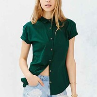 Vanishing Elephant Classic Short-Sleeve Shirt- Dark Green