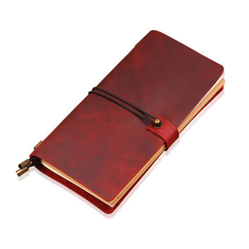 Journal Sketchbook - Hand Crafted Refillable Leather Notebook - Leather Traveler's Notebook - Leathe Dairy