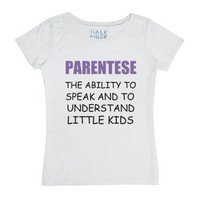 Parentese-Female White T-Shirt