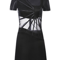 Black Turtleneck Abstract Boning Dress by Christopher Kane - Moda Operandi