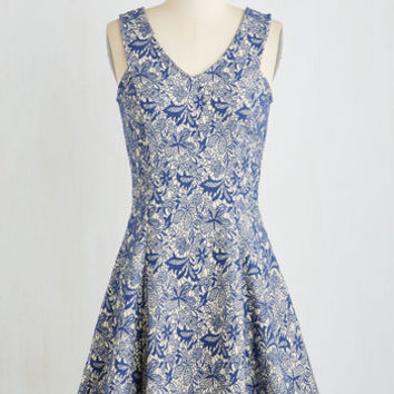 Mid-length Sleeveless Fit & Flare Out of Curtsy Dress by ModCloth