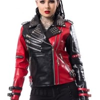 Heartless Asylum Biker Jacket | Attitude Clothing