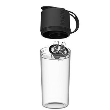 Umoro One - V2 - The Ultimate Water Bottle & Shaker in One - Midnight Black