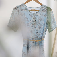Myrtle Dress (Blue) - Miss Patina