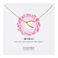 14K Gold Plated Sterling Silver Wish Wishbone Necklace