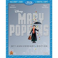 Mary Poppins (50th Anniversary Edition) (2 Discs) (Includes Digital Copy) (Blu-ray/DVD) (W)