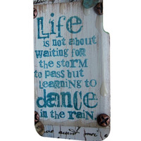 Best 3D Full Wrap Phone Case - Hard (PC) Cover with Dance In The Rain Vintage Quotes Design