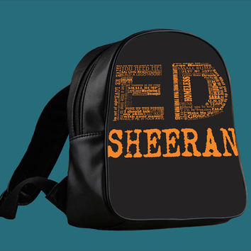 ed sheeran tumblr for Backpack / Custom Bag / School Bag / Children Bag / Custom School Bag *