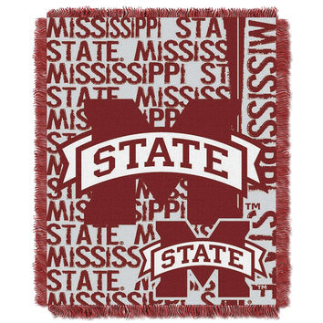 Mississippi State Bulldogs NCAA Triple Woven Jacquard Throw (Double Play Series) (48x60)