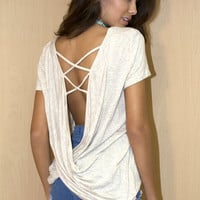 U-neck Strappy Back Top (more colors)