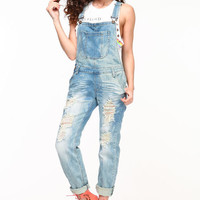 SHREDDED BOYFRIEND OVERALLS