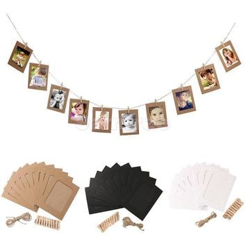 10Pcs Paper Photo Frame Halloween Decoration Wedding Decoration Bachelorette Party Supplies New Year Christmas Decoration