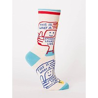 This Is What A Feminist Looks Like Women's Crew Socks