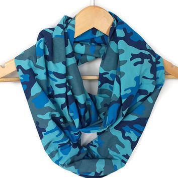 ON SALE - Spring Celebrations Scarf - Cotton Scarf - Cowl Scarf - For Her best selling item scarf - Camo Infinity Scarf - Camouflage scarf
