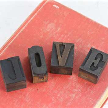 Vintage Letterpress LOVE | Printers Blocks LOVE | LOVE Letterpress Blocks | Valentine's Decor | Wedding Decor | Vintage Letterpress Blocks