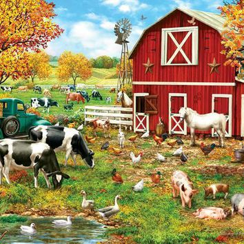 A Day on the Farm 300pc Jigsaw Puzzle