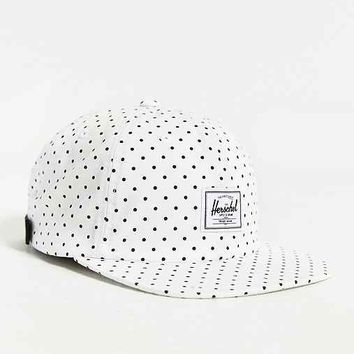 Herschel Supply Co. Albert Polka Dot Strapback Hat- White One