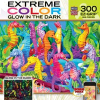 Extreme Color - Glow in the Dark - Singing Seahorses - 300 Piece EZ Grip Jigsaw Puzzle