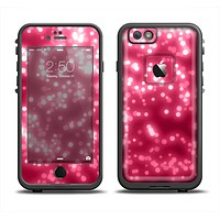 The Glowing Unfocused Pink Circles Apple iPhone 6 LifeProof Fre Case Skin Set
