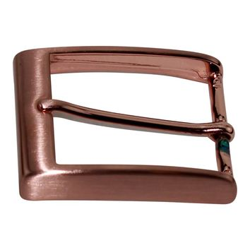 40 mm Italian Solid Brass Belt Buckle with Rose Gold Finish