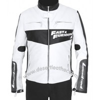 New White Vin Diesel Fast and Furious 7 Jacket