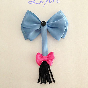 Disney inspired Eeyore hair bow