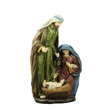 "20"" Lighted Religious Holy Family Nativity Statue with Lantern"