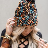 Pom Pom Party Beanie - Black