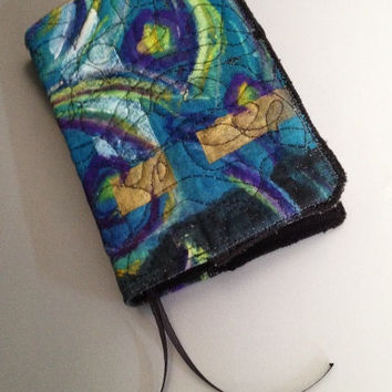 Hand Painted Journal Cover by HorkoverGlass on Etsy