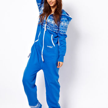 Onepiece Nordic Pattern Onesuit
