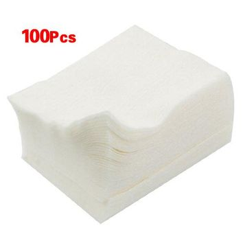 3 Sets of 100 Pcs Practical Durable Makeup Cosmetic Facial Cleaning White Cotton Pads