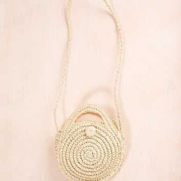 Katy Light Straw Rattan Handbag
