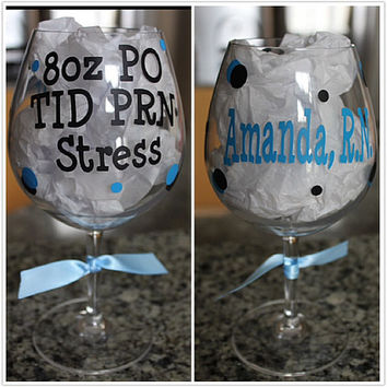 Personalized Acrylic Wine Glass for Nurse