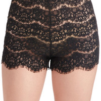 Daybed at Dawn Sleep Shorts in Black