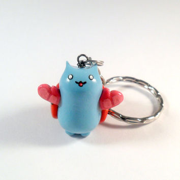Catbug Bravest Warriors with Oven Mitts Keychain, Phone Charm, or Necklace :D